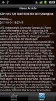 Screenshot of iTrack MMA