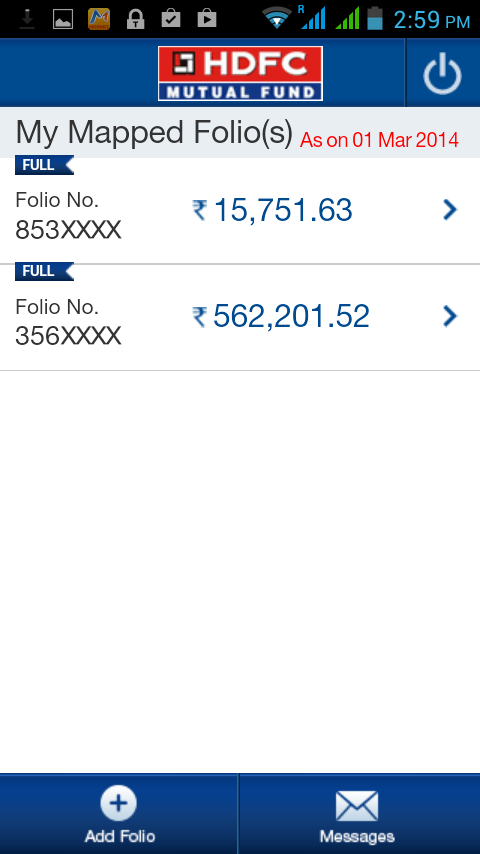 HDFCMFMobile- screenshot
