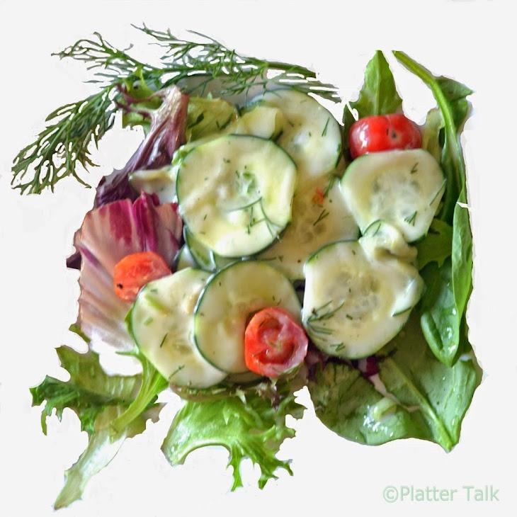 Creamy Dill #Cucumber #Salad Recipe