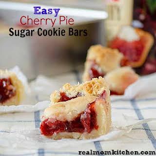 Easy Cherry Pie Sugar Cookie Bars.