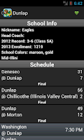 Screenshot of Illinois Prep Scores