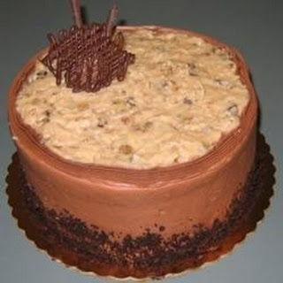 Non-Dairy Chocolate Cake with German Chocolate Frosting.