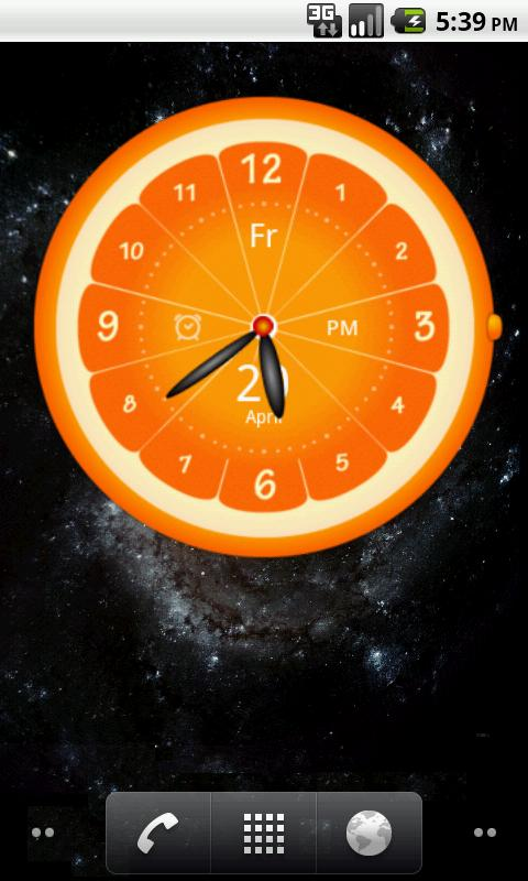 Big Clock Widget - screenshot