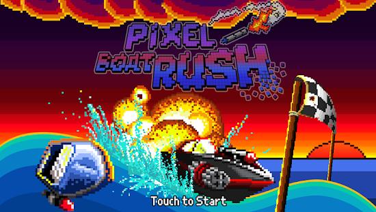 Pixel Boat Rush Screenshot 1