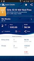 Screenshot of Meet Mobile: Swim