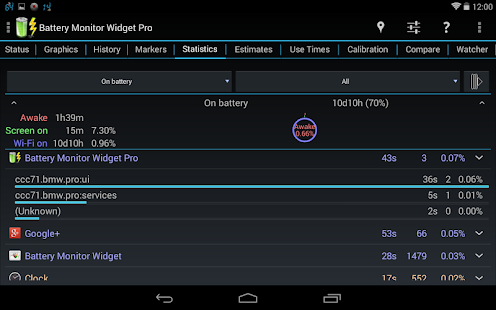 3C Battery Monitor Widget Pro- screenshot thumbnail