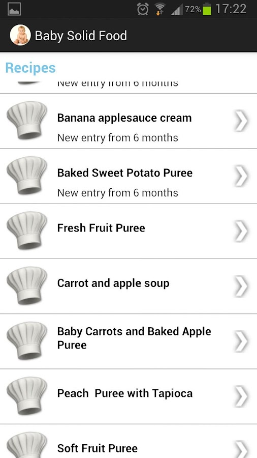 Baby solid food Android Apps on Google Play
