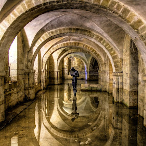 Winchester Cathedral Crypt (Winchester, UK) by G. Stetson - Buildings & Architecture Statues & Monuments (  )