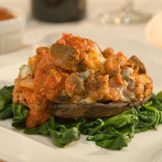 Sausage & Gorgonzola-stuffed Portobello Mushrooms.