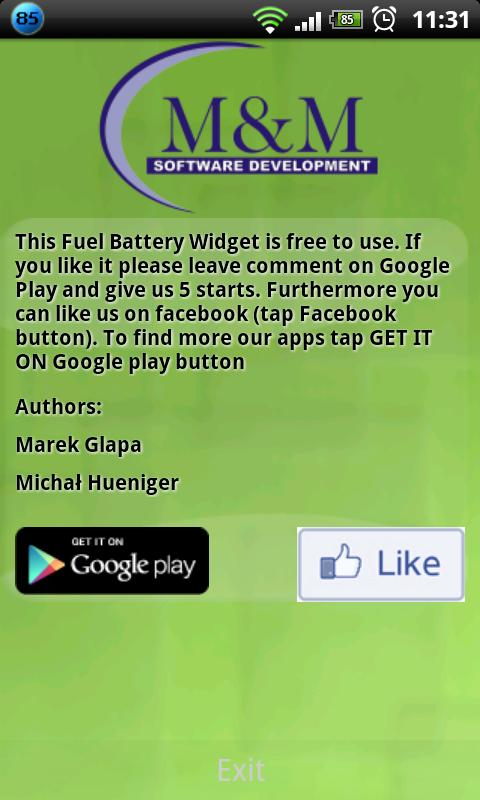 Fuel Gauge Battery - screenshot