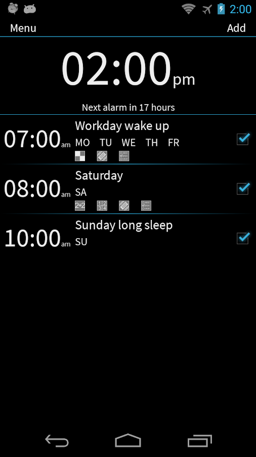 I Can't Wake Up! Alarm Clock - screenshot