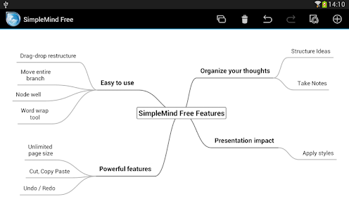 SimpleMind Free mind mapping - screenshot thumbnail