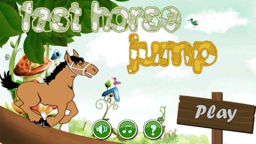 Fast horse jump