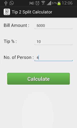 Tip Bill 2 Split Calc Pro