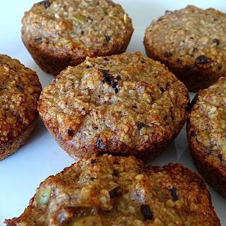 Oaty Banana Choc-walnut Muffins