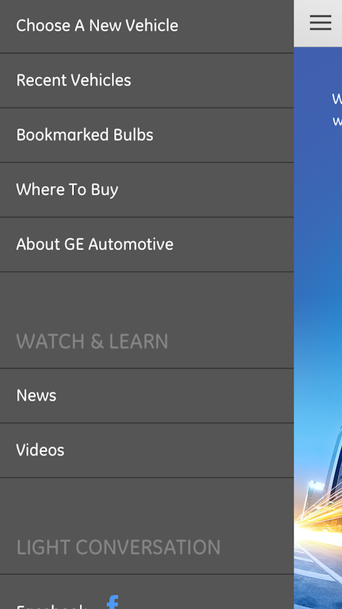 GE Auto Bulb Finder- screenshot