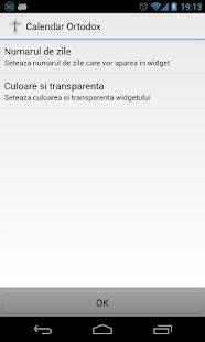 Calendar Ortodox cu Widget - screenshot thumbnail