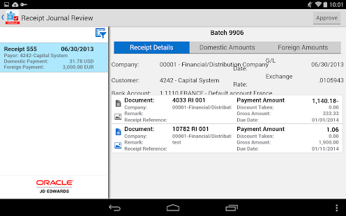 Receipt Batch Appr - JDE E1- screenshot thumbnail