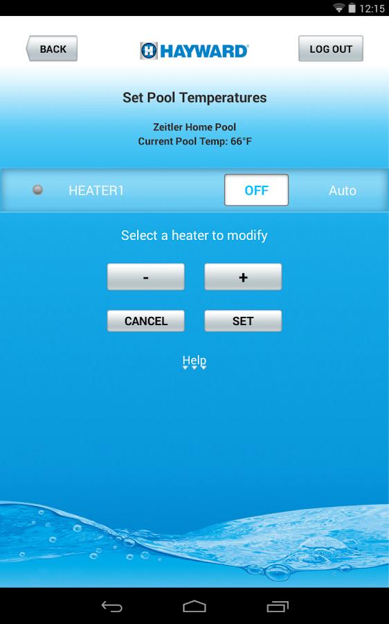 Hayward AquaConnect® - screenshot