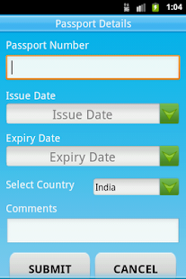 Track ur Info Passport & Visa - screenshot thumbnail