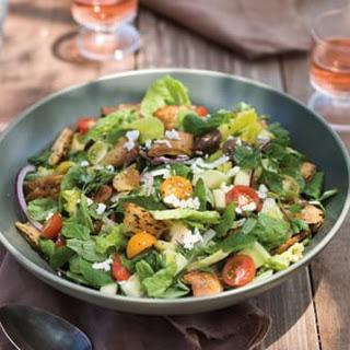 Fattoush Salad with Ricotta Salata Cheese