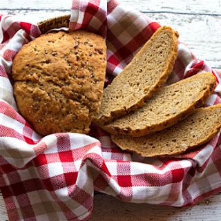 Mountain Rye Bread With Sunflower Seeds.