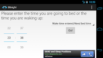 Screenshot of 90night: SleepyTime Calculator