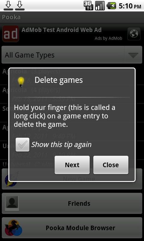 Pooka- screenshot