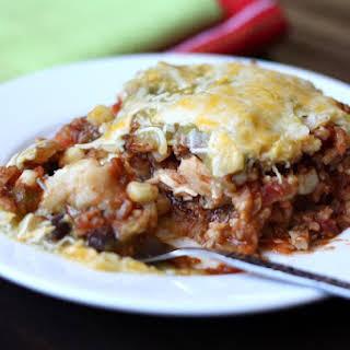 Southwestern Chicken Mexican Lasagna.