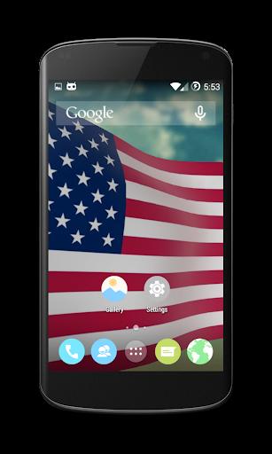 US Flag: 3D Live Wallpaper