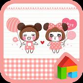 pink miki mini dodol theme