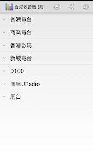 香港收音機 附節目表