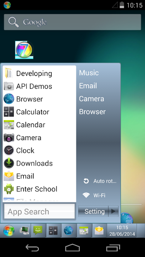 Taskbar 7 - screenshot