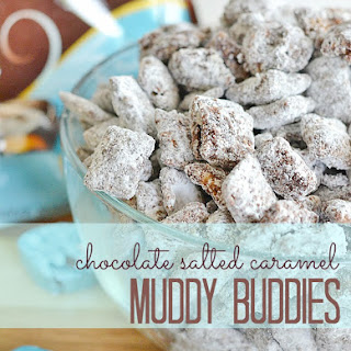 Chocolate Salted Caramel Muddy Buddies.
