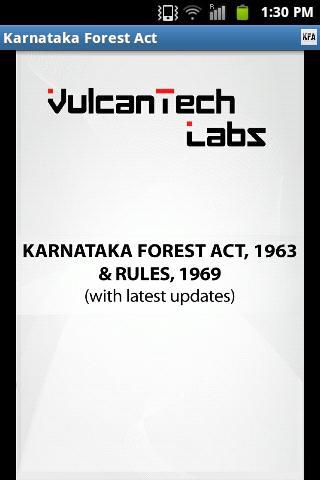 Karnataka Forest Act Rules