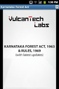 Karnataka Forest Act & Rules- screenshot thumbnail