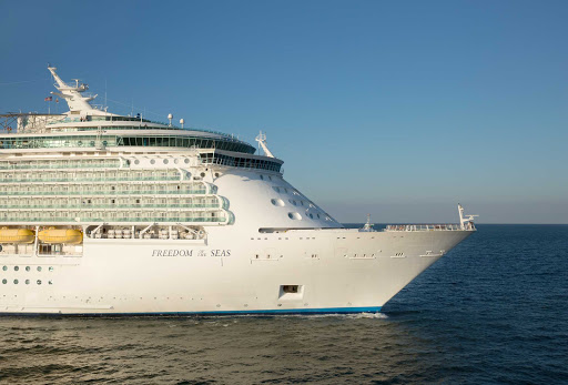 Freedom-of-the-Seas-exterior - Freedom of the Seas' Caribbean itineraries include Jamaica, the Bahamas and the Cayman Islands.