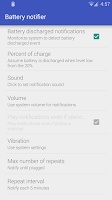 Screenshot of Battery notifier - Reborn
