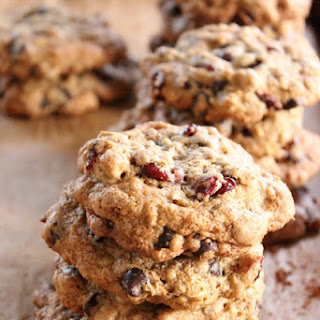 Chocolate Chip Cranberry Flax Cookies
