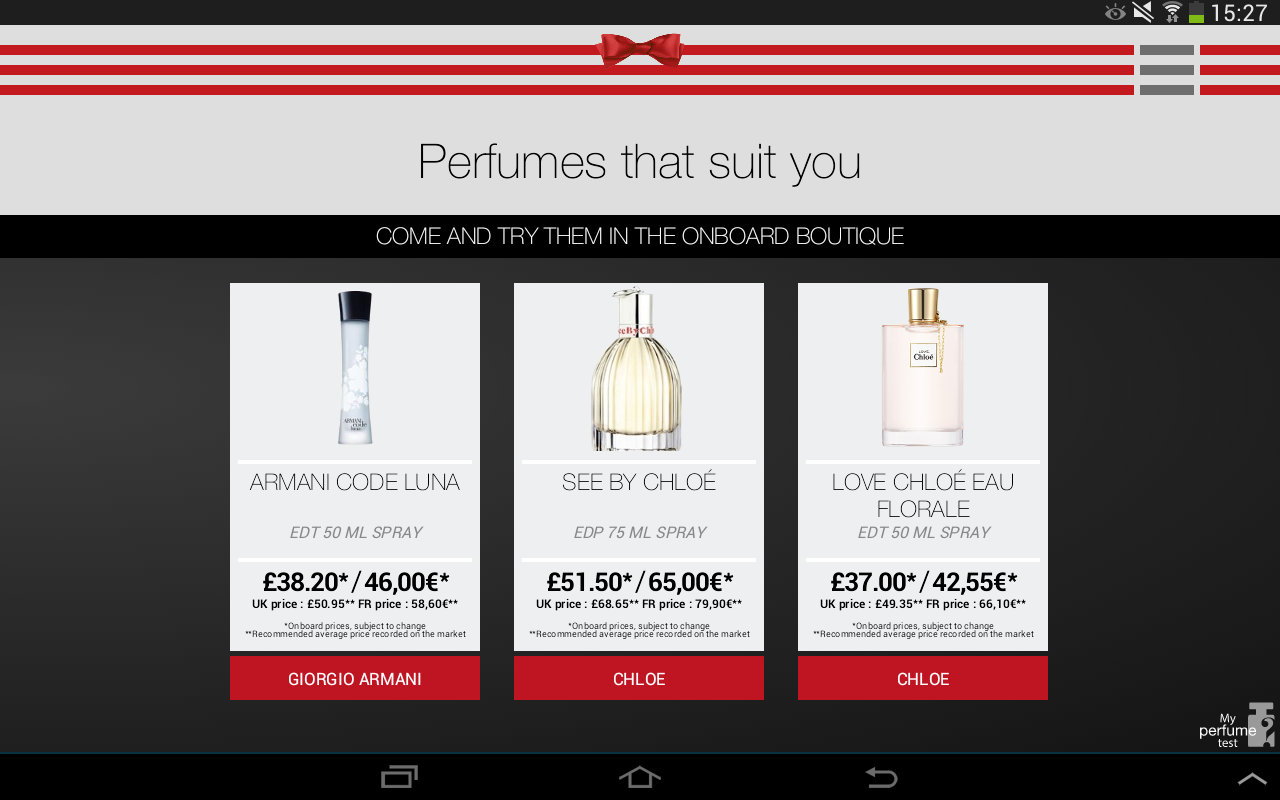 My Perfume Test- screenshot