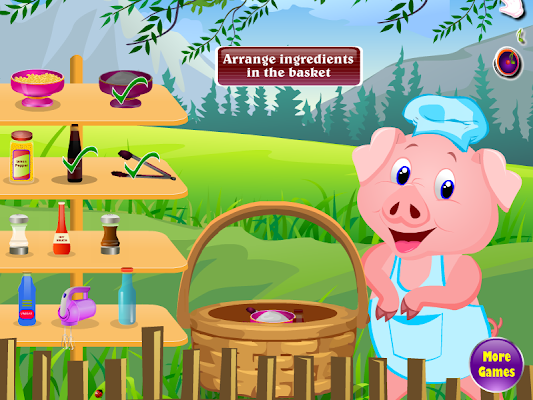Grilled pork cooking games - screenshot