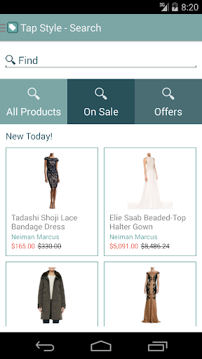 Tap Style Fashion Shopping