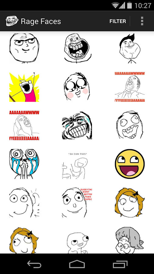 Rage Faces- screenshot