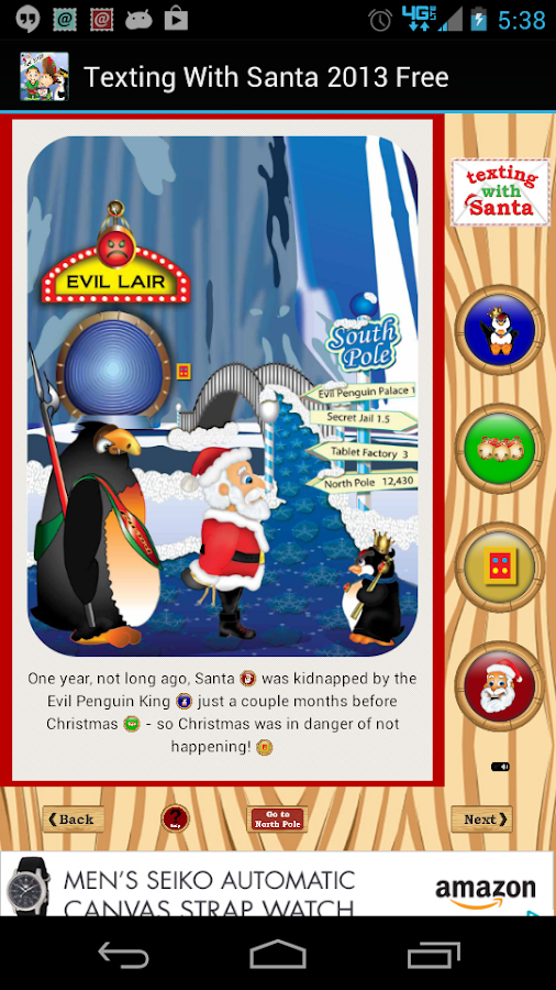 Texting With Santa Story -Free- screenshot