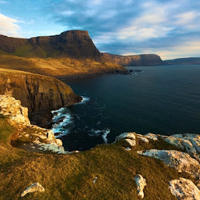 NEIST POINT by Evžen Takač - Landscapes Travel ( scotland, skye, mountain, sunset, sea, travel, island )