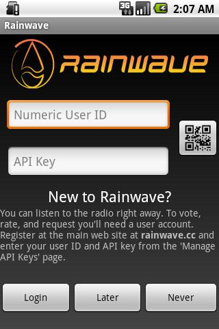 Rainwave - screenshot