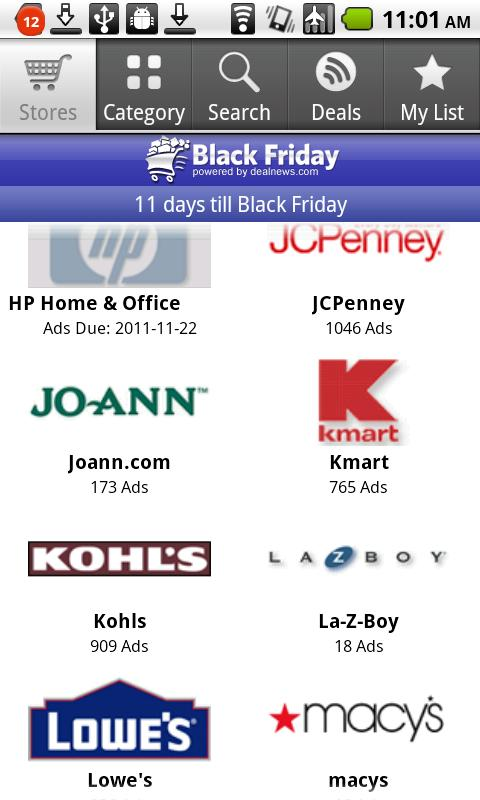 Black Friday App - screenshot