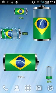 Brazil: Flag Battery Widget - screenshot thumbnail