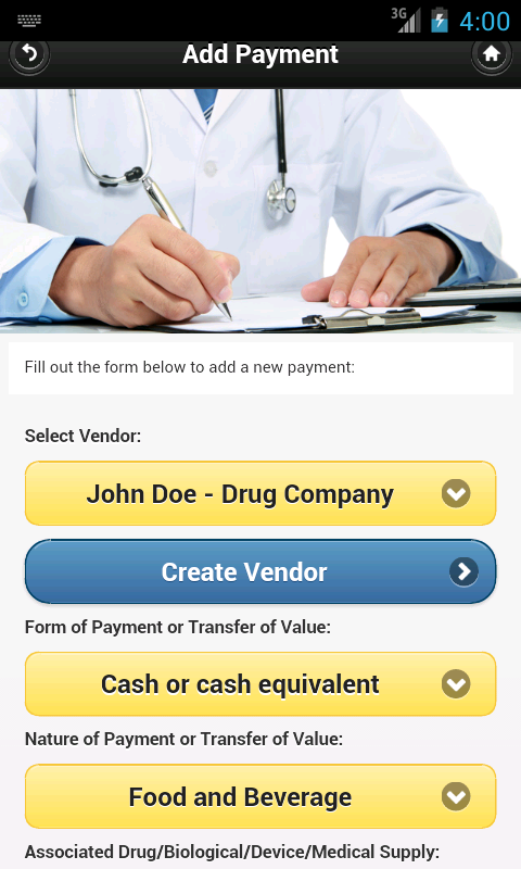 Open Payments for Physicians- screenshot
