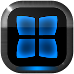 Next Launcher Theme Neon Blue v2.40